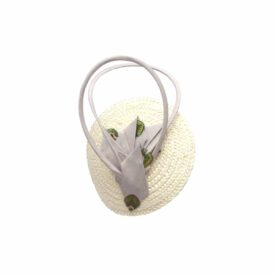 Hennumi_HB009_Mila_Straw Silk Cocktail cap_Cream Grey