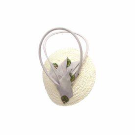 Hennumi_HB009_Mila_Straw Silk Cocktail cap_Cream Grey